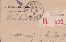 Bouchain Nord Palais De Justice Recommandé 1946 Marianne De Gandon Accident Du Travail - 1921-1960: Periodo Moderno