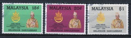 Malyaya Selangor Complete Set From 1985 Silver Jubilee Of Sultan  In Fine Used Condition - Malaysia (1964-...)