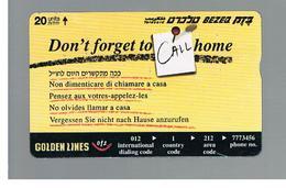 ISRAELE (ISRAEL) -   2000 DON' T FORGET  - USED  -  RIF. 10881 - Israel