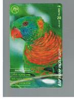 ISRAELE (ISRAEL) -   2001 BIRDS: PARROT  - USED  -  RIF. 10882 - Pappagalli
