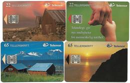 @+ Norvège - Lot De 4 Telecartes à Puce (lot 1) - Norway