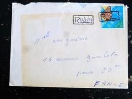 LETTRE ESPAGNE ESPANA SPAIN YT 2121 ADHESION CONSEIL EUROPE - CACHET RECOMMANDEE COMME TIMBRE A DATE - 1931-Aujourd'hui: II. République - ....Juan Carlos I