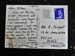 LETTRE ESPAGNE ESPANA SPAIN YT 2060 - ROI JUAN CARLOS 1er - PLATJA D ARO COSTA BRAVA LA PLAGE - 1931-Aujourd'hui: II. République - ....Juan Carlos I