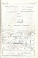 Stafkaart Sint-Niklaas - Temse - Nr 15 - Schaal 1/25.000 - Geographical Maps