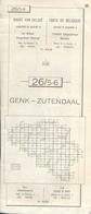 Stafkaart Genk - Zutendaal Nr 26 - Schaal 1/25.000 - Geographical Maps
