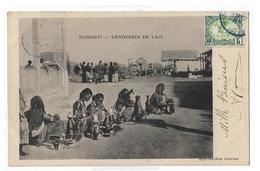 YT 40 Mosquée De Tadjourah Oblitéré Par CAD Bleu Cote Française Des Somalis 18 Janvier Sur CPA Djibouti Vendeuses Lait - Lettres & Documents
