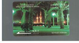 KUWAIT -  GPT  M.O.C.  -  1993 KUWAIT TOWERS  -  USATA (USED)  -  RIF. 10883 - Kuwait