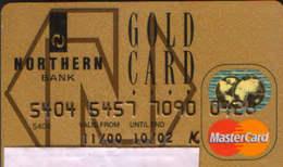 United Kingdom - Northern Bank -  Gold Card, Mastercard - Geldkarten (Ablauf Min. 10 Jahre)