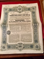 EMPRUNT   De  L' ÉTAT   RUSSE  5%  1906   --------5  Obligations  De  187,50  Roubles - Russia