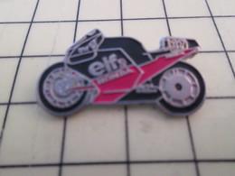 PIN813E Pin's Pins / Rare Et Beau : MOTO SPORTIVE ELF ROUGE ET NOIRE - Motorbikes