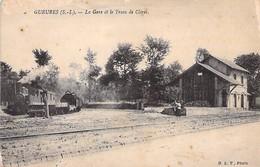 GUEURES - La Gare Et Le Tram De Cleres - Seine Maritime - 76 - France