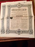 Gt  Impérial  De  Russie   Emprunt  De  L' État  Russe  4 1/2%  De  1909  -----2  Obligations  De  187,50  Roubles - Russia