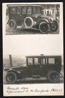 AGEN: Double Cliché D'une Voiture Ancienne, Renault De 1910 Appartenant à M. Longlade à Agen. - Agen