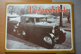 L'AUTOMOBILISTE N° 47  1977  LES ROSENGART , LA GARDNER SERPOLLET DU SHAH DE PERSE - Auto