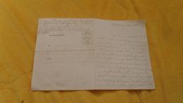 LETTRE ANCIENNE DE 1871 A ETUDIER. / PARIS. / CADRE VIERGE PAR BALLON MONTE NI TIMBRE. - Unclassified