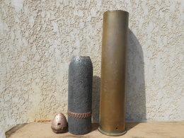 Militaria. Obus Allemand 10cm Kanone 14. 1918. WW1. - Army & War