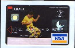 Romania - BRD -  Credit Card,with The Image Of Hagi Footballer With Autograph - Geldkarten (Ablauf Min. 10 Jahre)