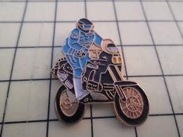 PIN812F Pin's Pins / Rare Et Beau : GRANDE MOTO DE CROSS OU ENDURO NOIRE - Motorbikes