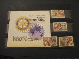 DOMINICA - 1980 ROTARY 4 VALORI + BF  - NUOVI(++) - Dominica (1978-...)