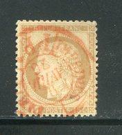 Y&T N°55- Cachet Rouge Des Imprimés De Paris - Marcofilie (losse Zegels)