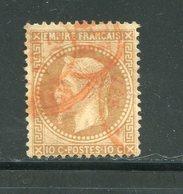 Y&T N°28B- Cachet Rouge Des Imprimés De Paris - 1863-1870 Napoleone III Con Gli Allori