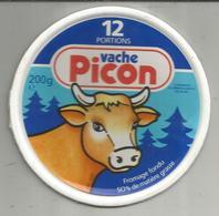 étiquette Fromage , Dessus De Boite , Vache PICON , 12 Portions , Fromage Fondu - Käse