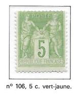 FRANCE N°106 - NEUF (*) - 1898-1900 Sage (Tipo III)