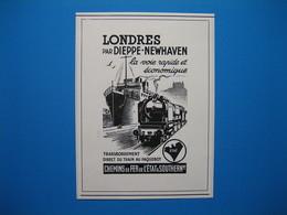 (1935) CHEMINS De FER De L'ÉTAT (Londres Par Dieppe-Newhaven) - Unclassified