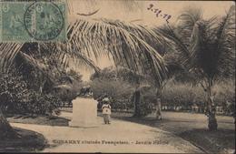 CPA Conakry Guinée Française Jardin Public Animée YT 21 X2 Berger Pulas 1912 CAD Conakry 10 Dec 12 - French Guinea