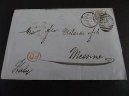 Trajet London-Messine, Cachet,N  LONDON MR 4   75, Cachet 95, Timbre Poste Six Pence AT/TA - 1840-1901 (Victoria)
