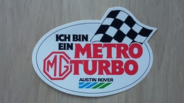 MG (Austin Rover) Metro-Turbo -Aufkleber (Auto-Werbung) - Aufkleber