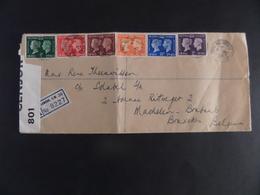 Centenaire Du Timbre, Victoria Et George VI, Série Complète (227/232), Cachet Royal Automobile - 1902-1951 (Re)
