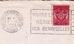 École Militaire D'Administration Montpellier Centralisateur Hérault 1951 Franchise Militaire + Correspondance De Soldat - Marcophilie (Lettres)
