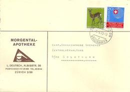 """Motiv Brief  """"Morgental Apotheke, Zürich""""            1973 - Schweiz"""