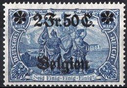 BELGIO, BELGIUM, OCCUPAZIONE TEDESCA, GERMAN OCCUPATION, 1916, FRANCOBOLLI NUOVI (MLH*) Michel 24II    Scott N24 - Belgium