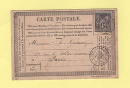 St Sauveur S Douve - Manche - 10 Avrl 1878 - Postmark Collection (Covers)