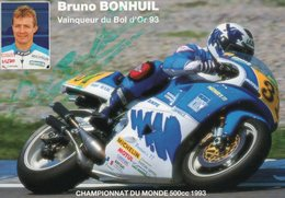 BRUNO BONHUIL-Vainqueur Du Bol D'Or 1993 - Motociclismo