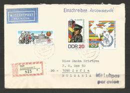 DDR - R Letter Traveled To BULGARIA - D 1694 - [6] République Démocratique