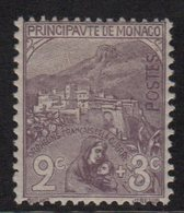 Monaco - N°27 Orphelins De Guerre - 2+3c Violet Brun - Neuf Avec Trace De Charniere - Cote 45€ - Neufs