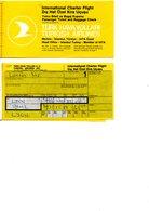BILLETS D AVION CHARTER  TURCK  LYON  ISMIR 2 BILLETS - Biglietti Di Trasporto
