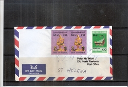 Letter From Myanmar To St.Helena - 2006 (to See) - Myanmar (Burma 1948-...)