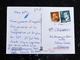 LETTRE ESPAGNE ESPANA SPAIN YT 2234 ET 2457 - ROI JUAN CARLOS 1er - TALAVERA DE LA REINA - RENAULT 4L - - 1931-Aujourd'hui: II. République - ....Juan Carlos I