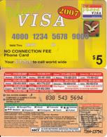 CANADA - Phone Visa 2007, MCI Prepaid Card $5(416-848-6887, Orange Reverse), Used - Canada
