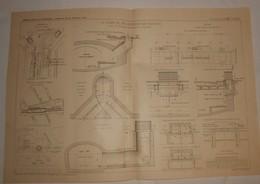 Plan Du Chemin De Fer Métropolitain De Paris. 1908 - Travaux Publics