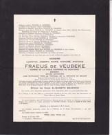 BRUGES Ludovic FRAEIJS De VEUBEKE Avocat Ancien Bâtonnier époux BEGEREM 1882-1952 Armée Secrète SEMOIS 40-45 - Todesanzeige