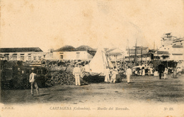 Cartagena, Muelle Del Mercado - Colombia