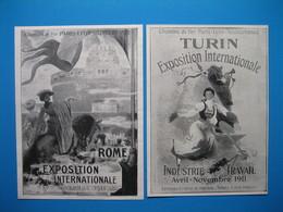 (1911) Expositions Internationales ROME Et TURIN Avec Les CHEMINS De FER P.L.M. (Paris-Lyon-Méditerranée) - Unclassified