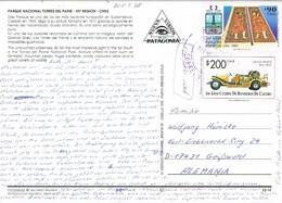 28334. Postal Aerea TORRES Del PAINE (Patagonia) Chile 1998 - Chile