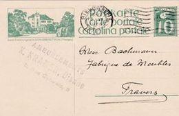 SCHWEIZ SUISSE 1925: CP 10c  Bild-PK Land-Erziehungsheim SCHLOSS KEFIKON (Thurgau) O BIEL (BIENNE) 16.VI.1925 - Interi Postali