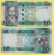 South Sudan 10 Pounds P-12 2015 UNC - Soudan Du Sud